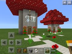 Minecraft village ideas mushroom