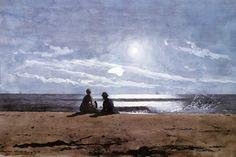 Moonlight by Winslow Homer | Art Posters