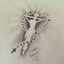 Resultado de imagem para tattoo terço Aa Tattoos, Tatuajes Tattoos, Bild Tattoos, Future Tattoos, Tattoo Drawings, Sleeve Tattoos, Cool Tattoos, Christ Tattoo, Jesus Tattoo