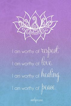 I am Worthy by CarlyMarie