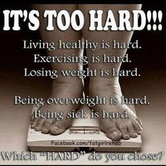 Excuses.....which hard do you choose to motivate?