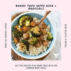 This Baked Tofu with Rice  Broccoli is SO TASTY!  Recipe is available in our NEW Summer-Ready 4 Week Program along with many more vegan  gf recipes! Get the guide FREE when you purchase the Summer Body Pack!  _ This comprehensive program will help you to not only get results but will also assist you to understand how to truly nourish your body and create long lasting healthy eating habits! _  Shop now: www.uniquemuscle.com.au Healthy Eating Habits, Healthy Tips, Gf Recipes, Gluten Free Recipes, Macro Meals, Broccoli Rice, Baked Tofu, Tasty Recipe, Summer Body