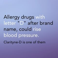 Allergy drugs like decongestants could rise blood pressure. Antihistamine and anti-inflammatory do not, but must be used with caution.