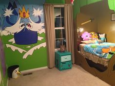 Adventure Time Bedroom Project | John Sorci I may be 30 something but I want this bedroom!!! Hahah