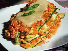 Cukkini - lasagne :: Vegán Receptek Bologna, Tofu, Ethnic Recipes, Lasagna
