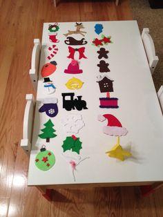 Felt ornaments for toddler tree advent calendar