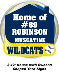Baseball/softball team yard signs. Support your local baseball/softball team. Team yard signs make great fundraisers.