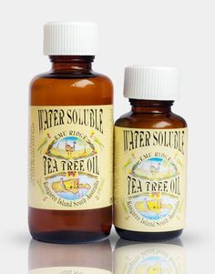Water Soluble Tea Tree Oil Tea Tree Oil is antibacterial and antifungal. It is a natural product that can be used to treat tinea,nail infections, foot odour, cold sores and ring worms among other things. Is also a great antiseptic for cuts and scrapes. Due to regulations T/Tree Oil is only available within Australia. The Water Soluble Tea Tree Oil is 25% Tea Tree Oil mixed with a chemical to make it water soluble. 50ml    $4.50 100ml    $8.50