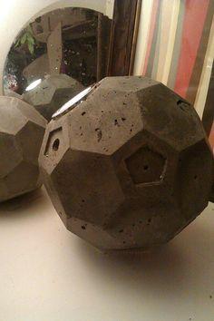 concrete truncated icosahedron by geometrixcity on Etsy, £90.00