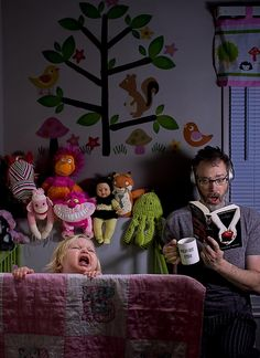 Father of the year, Dave Engledow and his adorable daughter, Alice bee photo shoot. Absolutely priceless and very original! Even better with his captions but couldn't find. @Melanie Resch Photography