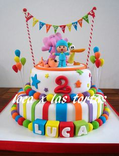 Znalezione obrazy dla zapytania cake pocoyo and nina Boys First Birthday Cake, Third Birthday, Baby Birthday, First Birthday Parties, Birthday Party Themes, 1st Birthdays, Decoration, Oakley, Ideas