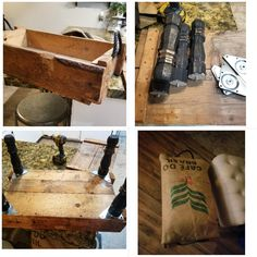 This was a fun and easy DIY I was able to find a vintage army box and turned it into a foot rest. Diy Box, Old Wood, Wood Boxes, Foot Rest, Easy Diy, Army, Diy Projects, Fun, Vintage
