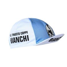 1ab12de0f57 BIANCHI GS FAUSTO COPPI RETRO CYCLING TEAM CAP - Vintage - Fixie - Made in  Italy