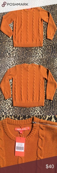 Cable Knit Zip Sweater 🍂 Beautiful High Quality Sweater 🍁 A Fall Staple! 🍂 Brand New 🍁Men's Size Medium 🍂Vibrant Rust Color 🍁 Features Zipper On Shoulder 🍂 Would Look Great With Chelsea Boots or Timbs! 😉🍁 Tags: Topman, Zara, Express, Nordstrom, Asos JackThreads Sweaters Crewneck