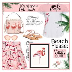 """Beach please"" by outfitsloveyou ❤ liked on Polyvore featuring RED Valentino, Cyberjammies, Karen Walker, Vices and Vintage Print Gallery"