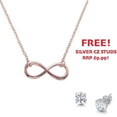Rose Gold Plated Infinity Necklace - John Stewart Jewellers