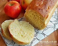 Pane dolce con mele e cannella soffice e con doppio procedimento