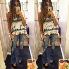 zpr Bata lindaaaa tieday com calça flare destroyed  PREÇOS POR DIRECT !!!!! Enviamos para todo Brasil e exterior . Compre pelo nosso site Www.espacolz.com.br Whats App : 📌 (31) 98762-5833 📌 (31) 99250-5031 📌 (31) 99218-7456 #fashion#ecommerce#comprasonline#summer17#verao17#novidades#bata#calcaflare#lookdodia#gravidinhas#gravidacomestilo