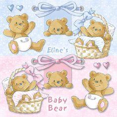 Eline's Digital ClipArt Set – Baby Bear