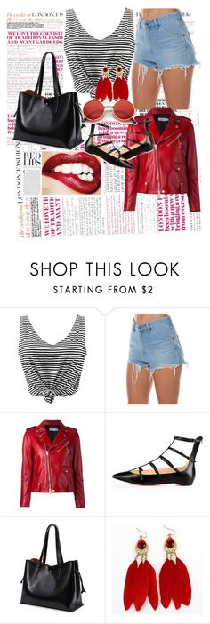 """#1"" by kadicz ❤ liked on Polyvore featuring WithChic, Wrangler, Coach, Christian Louboutin and ZeroUV"
