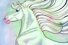 For this month's post card: an iridescent horse! I wanted to do a coloring-book-style drawing and start coloring it with a wild rainbow-hued underpainting. So I did. I will be making some of my post card archive available through my Zazzle store on various products, including (of course!) as post cards, that you can order and use! If there are any of my past post cards (including this one!) that you would like to see available at Zazzle, please let me know in the comments below!