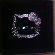Hello kitty ring Brand new never worn has rhinestones shaped of face and in silver Hello Kitty Accessories