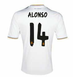 77036b19990 2013-2014 Real Madrid Adidas Home Football Shirt 14 Alonso http   www