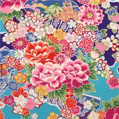 asia flowers pattern