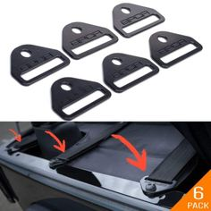 Tie-Down D-Plate Combo 6 Pack GPCA Jeep Wrangler JL Tie-Down Anchor Pro M8