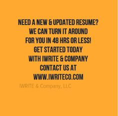 IWRITE & Company - The Home of Resume Services for Columbia SC! - IWRITE & Company