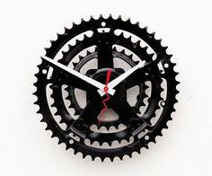 gerecycled fiets crank klok van pixelthis op Etsy