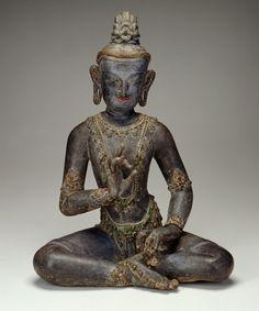 "Shuni mudra, the ""seal of patience"". Nepalese-Chinese-style bodhisattva,   13th century, Yuan dynasty."