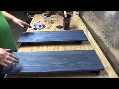 Amateur Wood Finishing 101: Introduction to Water-Based Staining Wood (Part 2) - YouTube