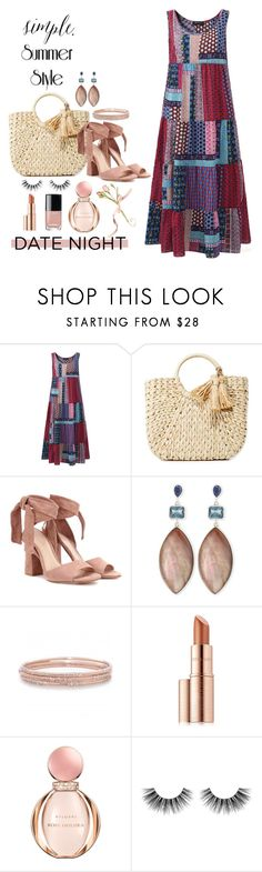 """I'll put on a ""Dress"" to go out !!!"" by kateo ❤ liked on Polyvore featuring Hat Attack, Gianvito Rossi, Stephen Dweck, Melinda Maria, Estée Lauder, Bulgari, Velour Lashes and 6779"