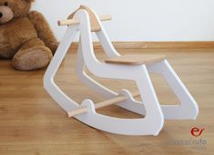 Design Rocking Horse Modern Wooden Toy for Kids Boys Girls Eco Friendly Toy White Toys For Girls, Kids Toys, Hello Wood, Baby Rocking Horse, Diy Kids Furniture, Eco Friendly Toys, Toy Craft, Wooden Crafts, Wood Toys