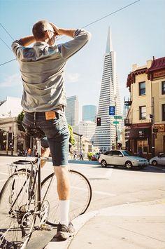 Iván Urra explores San Francisco by bike in his cutoff Levi's. How do you #LiveInLevis?