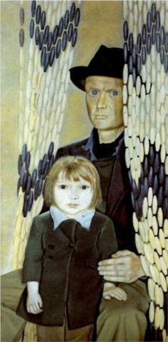 Father and Daughter - Lucian Freud (British: 1922- 2011)