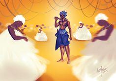 Illustration - Ogum Candomblé party on Behance