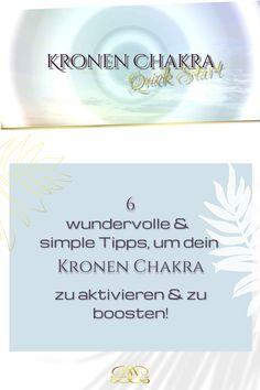 Nutze folgende einfache Alltags-Übungen & Tipps, um dein Chakra zu aktivieren & zu boosten! Ich habe dir auch eine wundervolle geführte Meditation dazu gepackt! #12chakren #chakra #chakras #12chakras #meinechakren #chakraboosten #kronenchakra Chakra, Coaching, Yoga, Movies, Movie Posters, Graz, Spiritual, Tips, Training