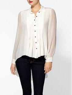 Elizabeth and James Jaden Silk Shirt | Piperlime