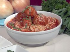 Look at this recipe - Grandma Maronis meatballs 100 year old recipe - from Bobby Flay and other tasty dishes on Food Network. Old Recipes, Beef Recipes, Italian Recipes, Dinner Recipes, Cooking Recipes, Yummy Recipes, Dinner Ideas, Restaurant Recipes, Cooking Ideas