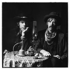 Mike Wilhelm and Dan Hicks 1967 by Herb Greene