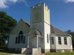 Karola Community Church looks exactly like this...   (This is the United Methodist Church at Neosho Falls, Kansas).