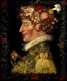 Giuseppe Arcimboldo, Italian, 1526–1593   Spring, 1573, oil on canvas, 76 x 63.5 cm. Musée du Louvre, Paris, Département des Peintures