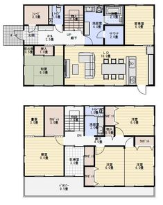 Dream House Plans, House Floor Plans, Japanese House, My House, Interior Decorating, Layout, House Design, Flooring, How To Plan