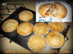 Delicious pastry for pies – Thanksgiving Pastry Recipes, Baking Recipes, Bread Recipes, Kos, Ma Baker, Beef Pies, Savoury Baking, Baking Breads, Savory Tart