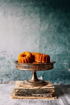 bundt cake shape, like the moodiness - blue wall Toasted Fennel Cakes by Caitlin Van Horn Rustic Food Photography, Cake Photography, Photography Blogs, Photography Filters, Photography Lighting, Photography Camera, Photography Backdrops, Fennel, Food Styling