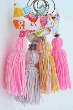 Borlas de Pajaritos, varios colores - Lorenza Basicos