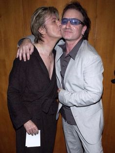 David Bowie and Bono, Meltdown After Show Party, Royal Festival Hall, London, June 29, 2002 #U2