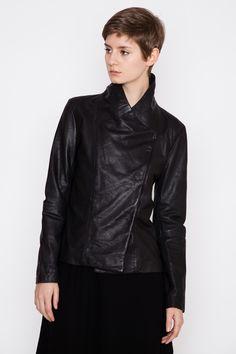 Drapy Leather Jacket